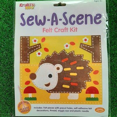 Kreative Kids Sew a Scene Felt Craft Kit - Hedgehog