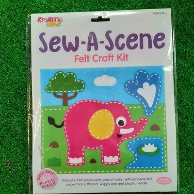 Kreative Kids Sew a Scene Felt Craft Kit - Elephant