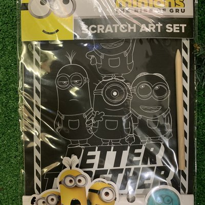 Minions Minions - Scratch Art Set