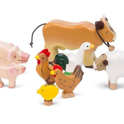 Le Toy Van Sunny Farm Wooden Animal Set