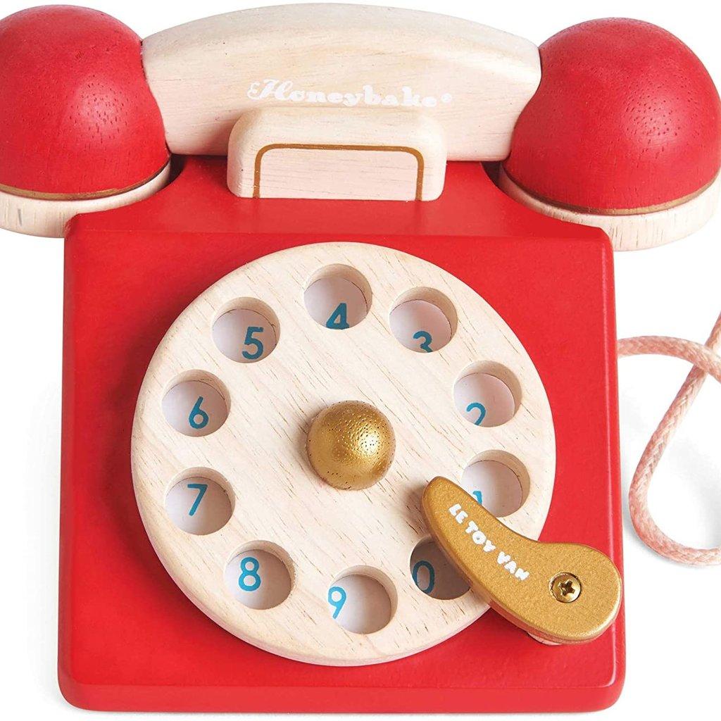 Honeybake Wooden Vintage Phone