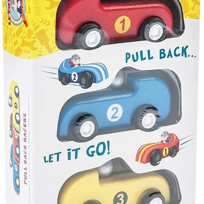 Le Toy Van Wooden Pull Back Racers