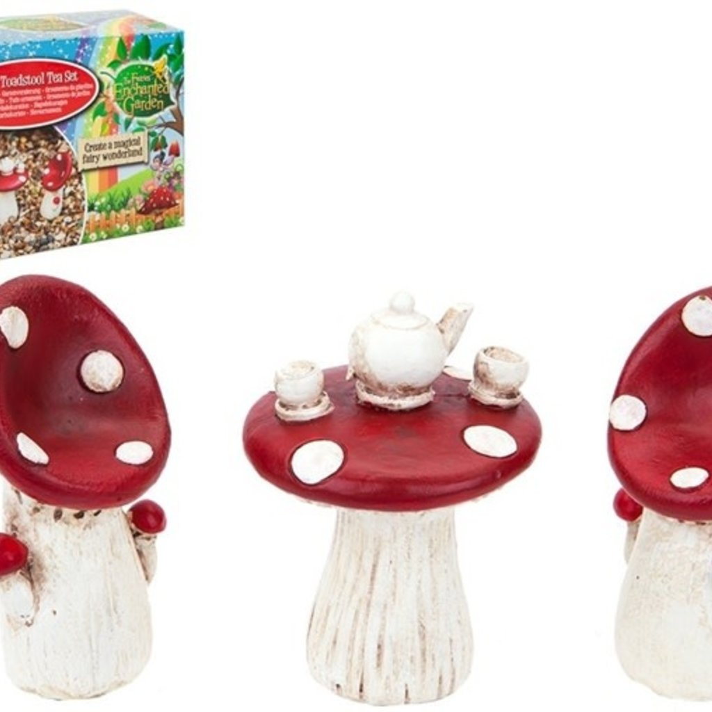 The Fairies Enchanted Garden Secret Fairy Garden - Tea for Two Toadstool Set
