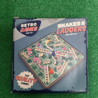 Retro Games Retro Snakes & Ladders Wooden Game