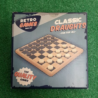 Retro Games Retro Draughts Wooden Game