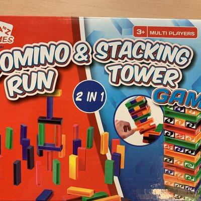 AtoZ Domino Run & Stacking Tower Game