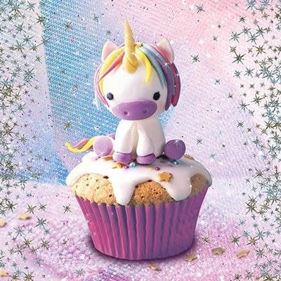 What a picture! Unicorn Cupcake Birthday Card