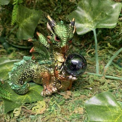 Alator Giftware Hatchling Treasure Dragon - Green