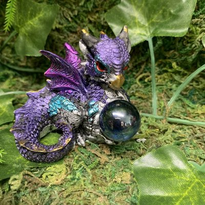 Alator Giftware Hatchling Treasure Dragon - Purple
