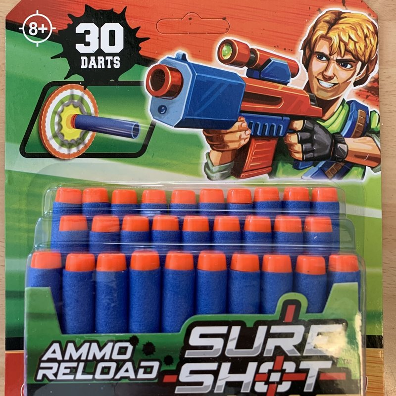 Hti Sure Shot Ammo Reload Foam Darts (30)
