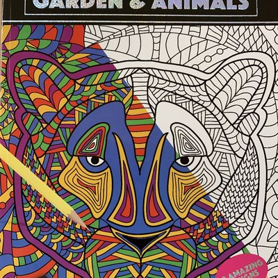 PMS Creative Therapy Garden & Animal - Adult Colouring Book