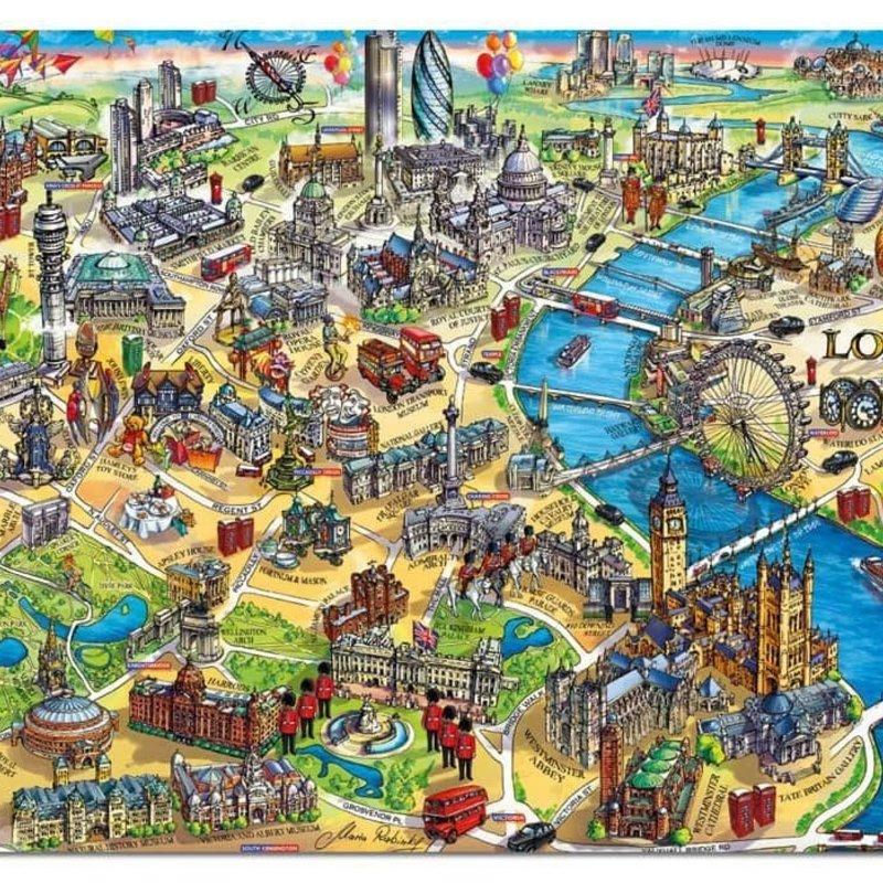 Educa 500pcs - London City Map Puzzle