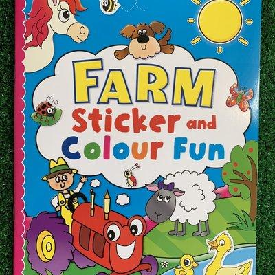 Brown Watson Farm Sticker & Colour Fun Book