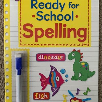 Brown Watson Wipe Clean Ready For School with Pen - Spelling