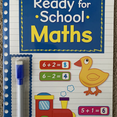 Brown Watson Wipe Clean Ready For School with Pen - Maths