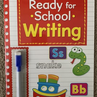 Brown Watson Wipe Clean Ready For School with Pen - Writing