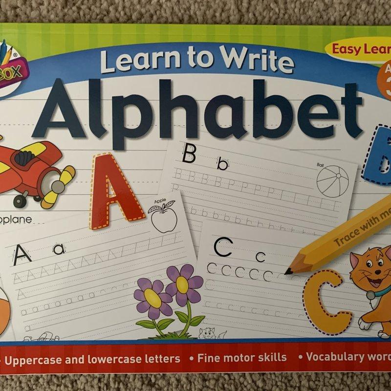 Art Box Learn to Write Alphabet Book