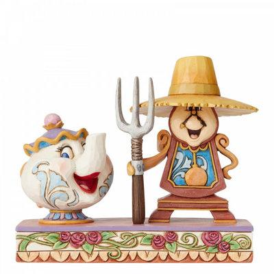 Disney Traditions Disney - Workin Round the Clock - Cogsworth & Mrs Potts