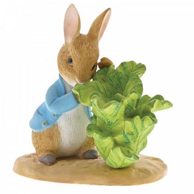 Beatrix Potter Peter Rabbit with Lettuce Mini Figurine