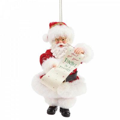 Disney Possible Dreams Santa - Tinsel in a Tangle Hanging Christmas Decoration