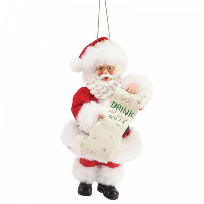 Possible Dreams Santa - Drink til You're Jolly Hanging Christmas Decoration