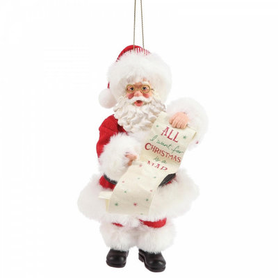 Possible Dreams Santa - All I want for Christmas Hanging Decoration