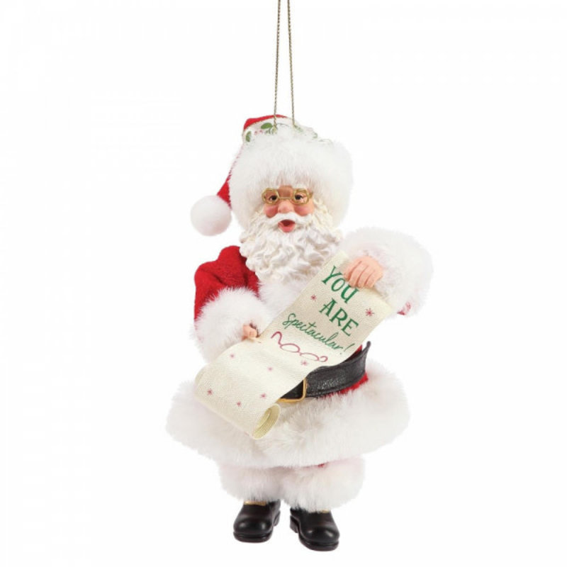 Possible Dreams Santa - You Are Spectacular Christmas Hanging Decoration