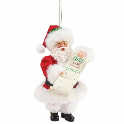 Possible Dreams Nice Until Proven Naughty Christmas Hanging Decoration