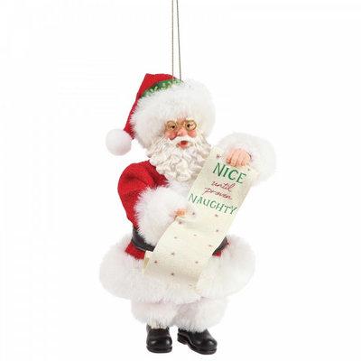 Possible Dreams Santa - Nice Until Proven Naughty Christmas Hanging Decoration