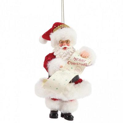 Possible Dreams Santa - Merry Christmas Hanging Christmas Decoration