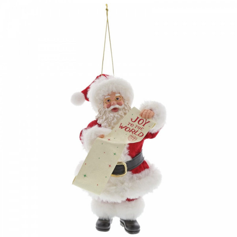 Possible Dreams Santa - Joy to the World Christmas Hanging Decorated