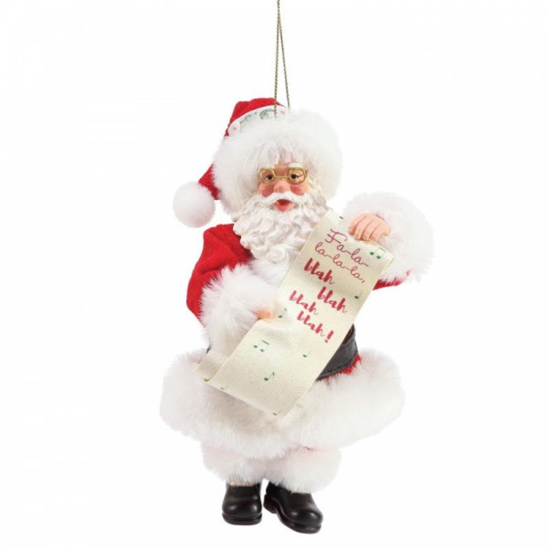 Possible Dreams Santa - Fa-La-La-La Blah, Blah, Blah, Blah Christmas Hanging Decoration