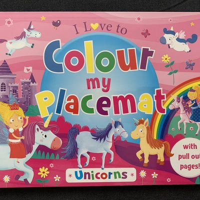 Brown Watson I Love to Colour My Placemat - Unicorns