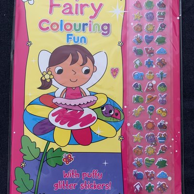 Brown Watson Fairy Colouring Fun with Puffy Glitter Stickers!