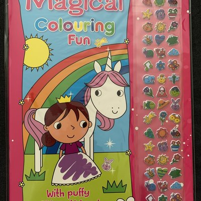 Brown Watson Magical Colouring Fun with Puffy Glitter Stickers!