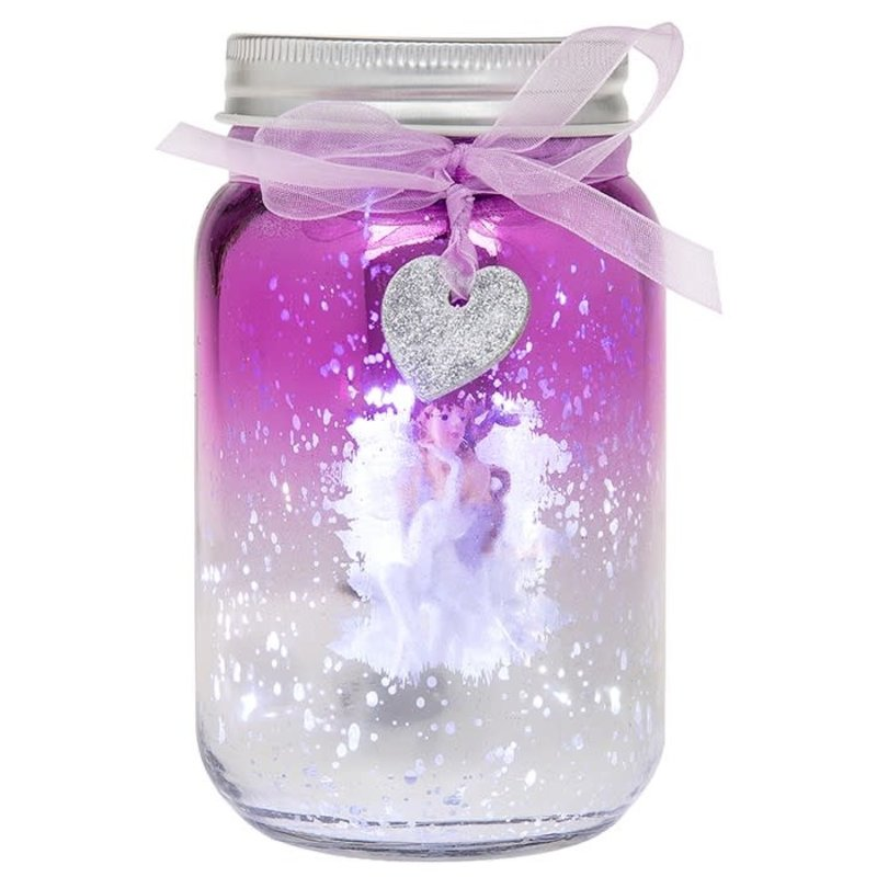 Shudehill Giftware Firefly Fairy LED Jar - Lilac