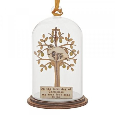 Kloche Kloche - Partridge In A Pear Tree Hanging Decoration - Figurine