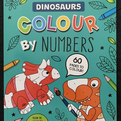 Eurowrap Colour By Numbers - Dinosaur