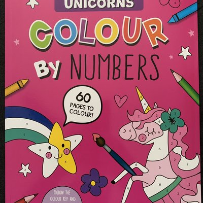 Eurowrap Colour By Numbers - Unicorn