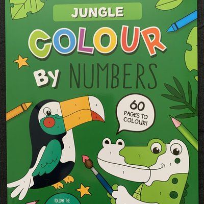 Eurowrap Colour By Numbers - Jungle