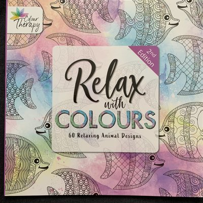 Colour Therapy Relax with Colours 2nd Edition - 60 Relaxing Animal Designs