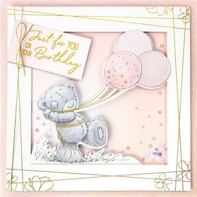 Me to You Tatty Ted Bear Holding Balloons Birthday Card