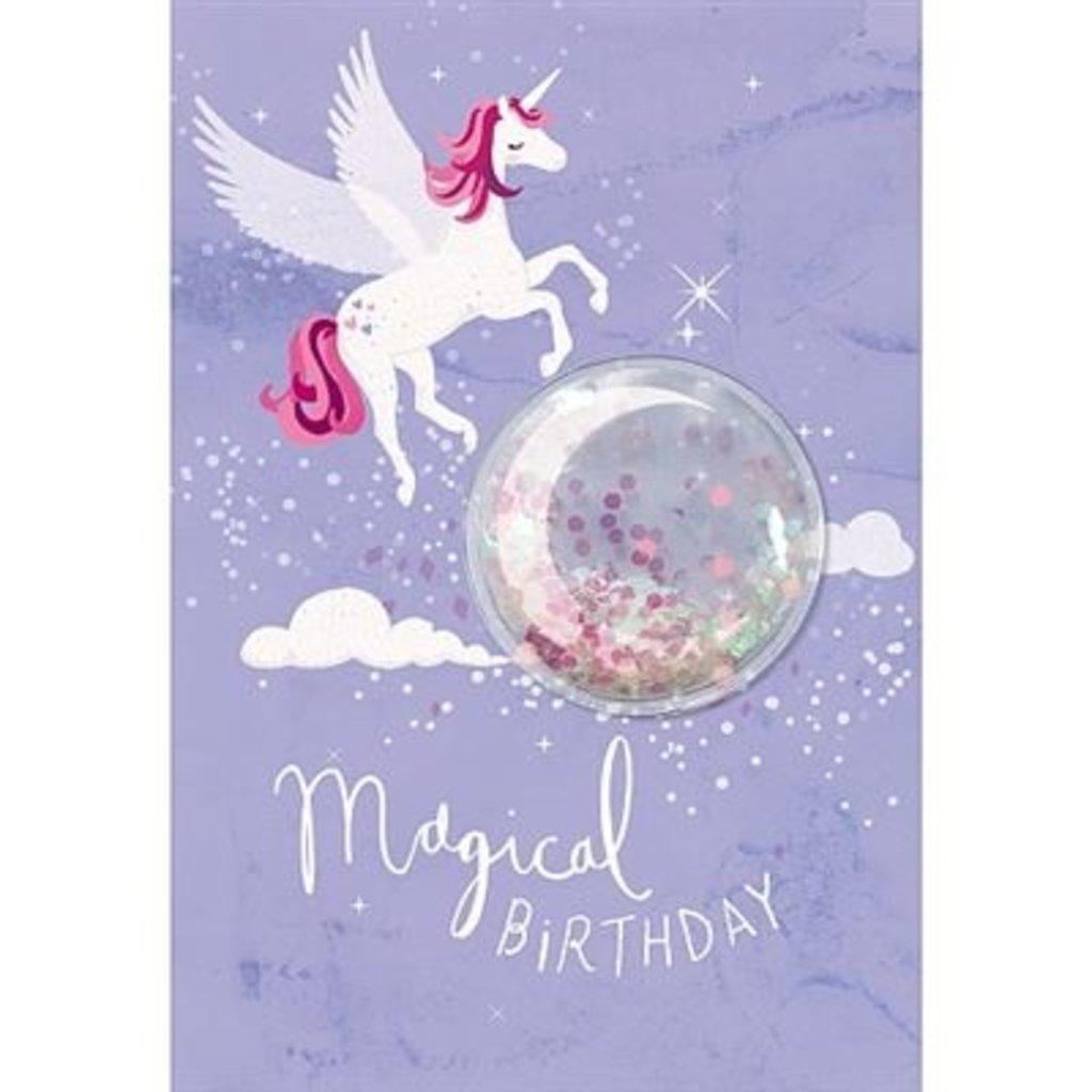 Hotchpotch Glitter Ball Unicorn Magical Birthday card