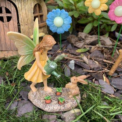 Woodland Knoll Woodland Knoll - Fairy Gardener with Bunny
