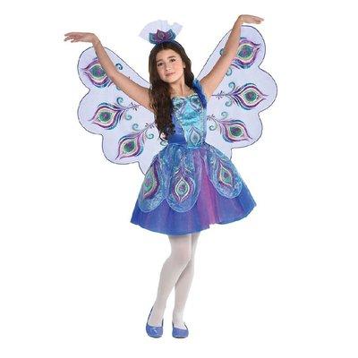 Pretty Peacock Fairy Costume - Age 3/4 years