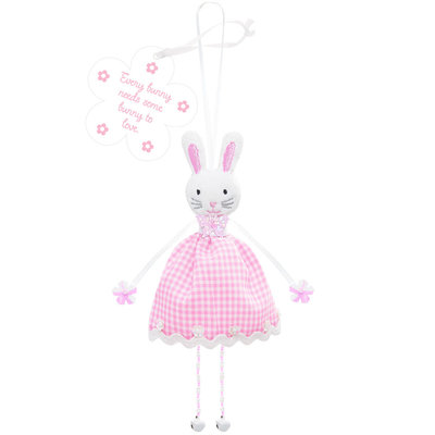 Believe You Can Fabric Bunny Hanging Decoration - Every Bunny...