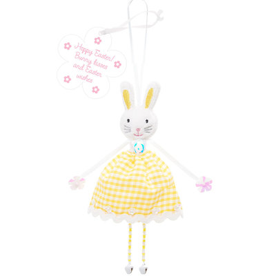 Believe You Can Fabric Bunny Hanging Decoration - Happy Easter