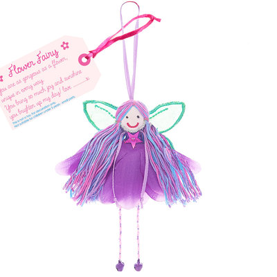 Believe You Can Flower Petal Fairy - Fabric Purple