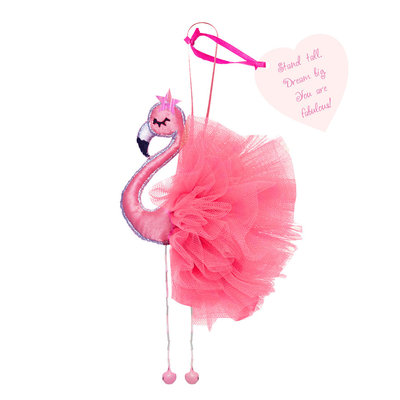 Believe You Can Fabric Flamingo  - Stand tall