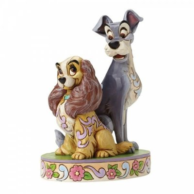 Disney Traditions Disney - Opposites Attract -60th Anniversary Lady & the Tramp Figurine